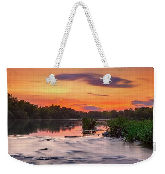 The Eve On The River Weekender Tote Bag