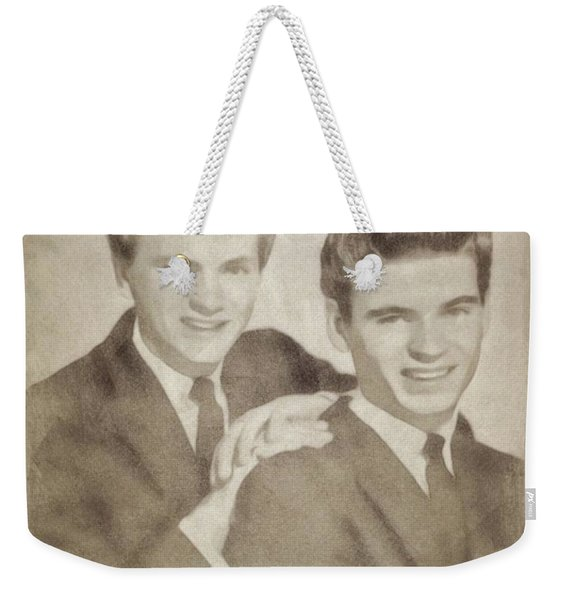 The Everly Brothers, Music Legends By John Springfield Weekender Tote Bag