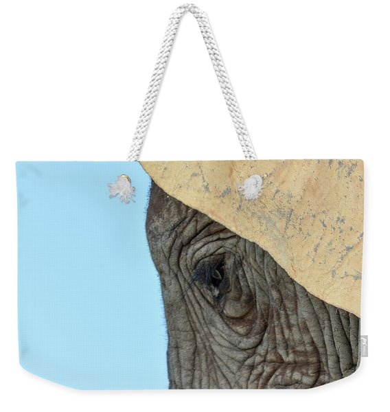 The Eye Of An Elephant Weekender Tote Bag