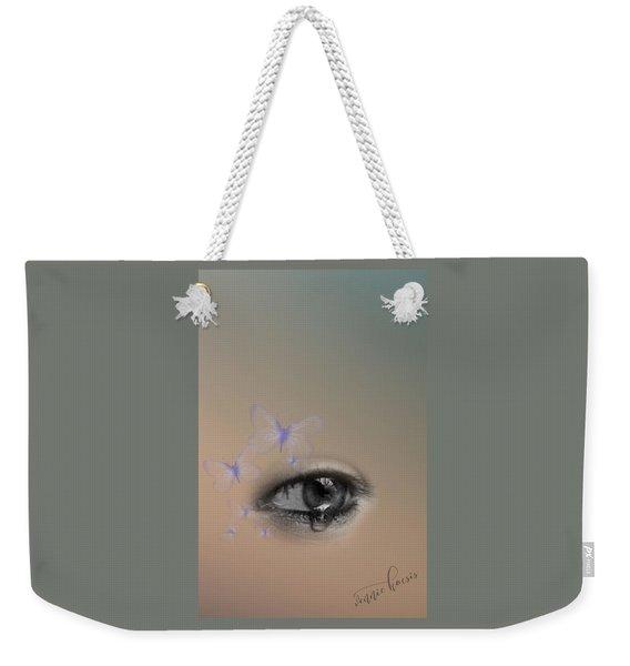 The Eyes Don't Lie Weekender Tote Bag