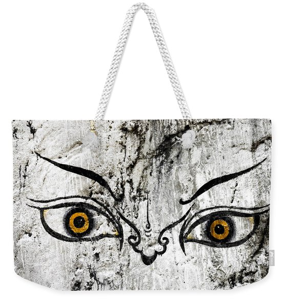 The Eyes Of Guru Rimpoche  Weekender Tote Bag