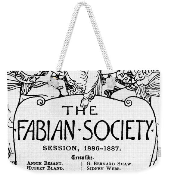 The Fabian Society Report Weekender Tote Bag