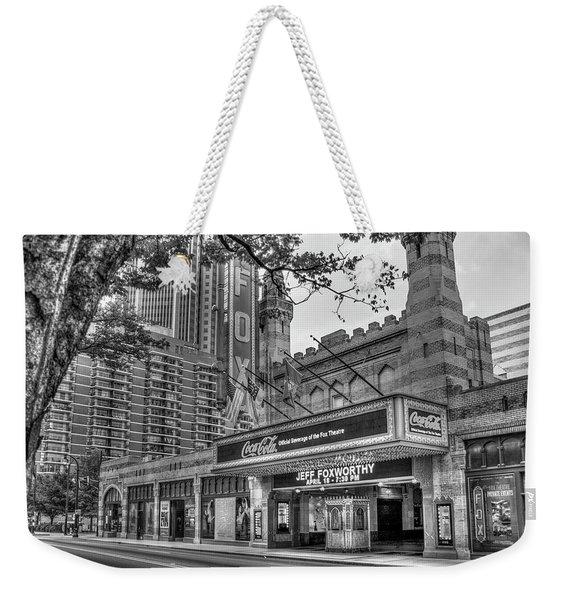 The Fabulous Fox Theatre Bw Atlanta Georgia Art Weekender Tote Bag