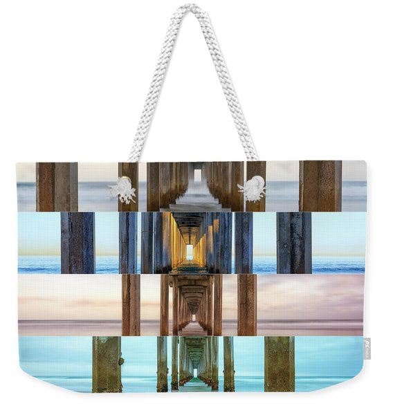 The Faces Of Scripps Pier #3 Weekender Tote Bag