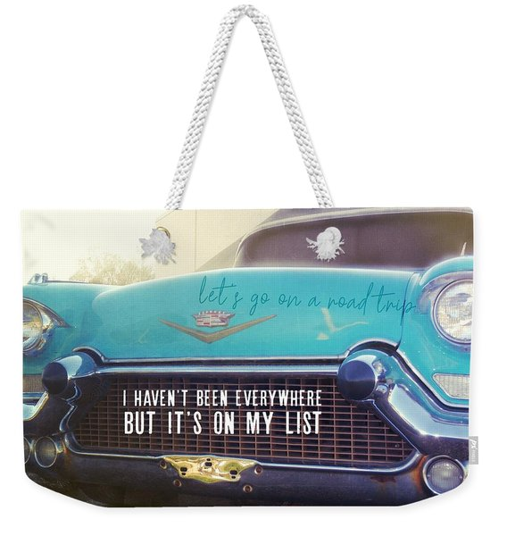 Weekender Tote Bag featuring the photograph The Famous 57 Seville Quote by JAMART Photography