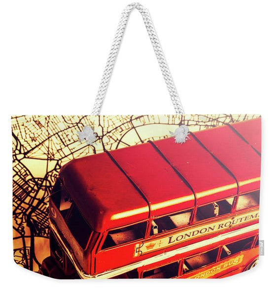 The Famous Red Bus Weekender Tote Bag