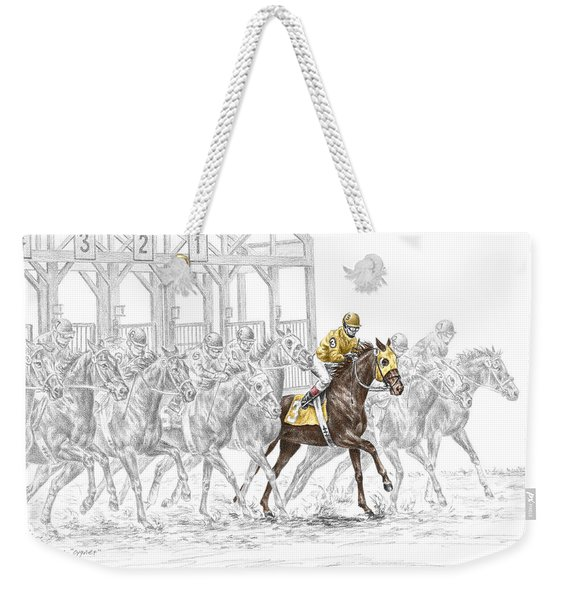 The Favorite - Thoroughbred Race Print Color Tinted Weekender Tote Bag