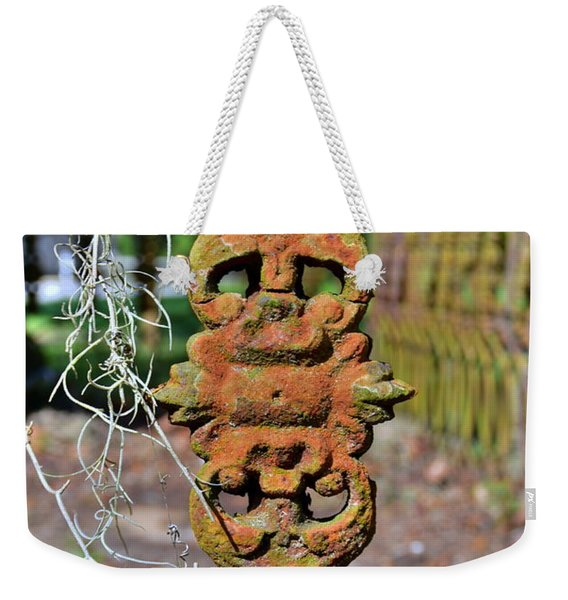 The Fence At The Chapel Of Ease St. Helena Island Beaufort Sc Weekender Tote Bag