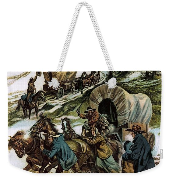 The Fight For The Wild West Weekender Tote Bag