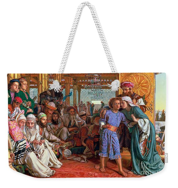 The Finding Of The Savior In The Temple Weekender Tote Bag