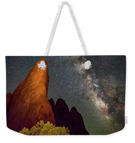 The Fins At Sand Dune Arch Weekender Tote Bag