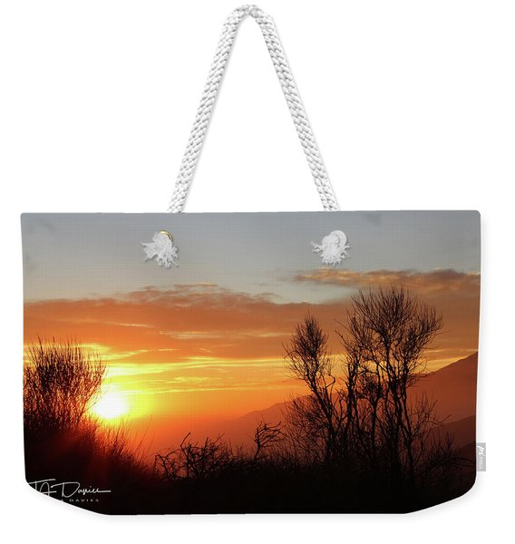 The Fire Of Sunset Weekender Tote Bag