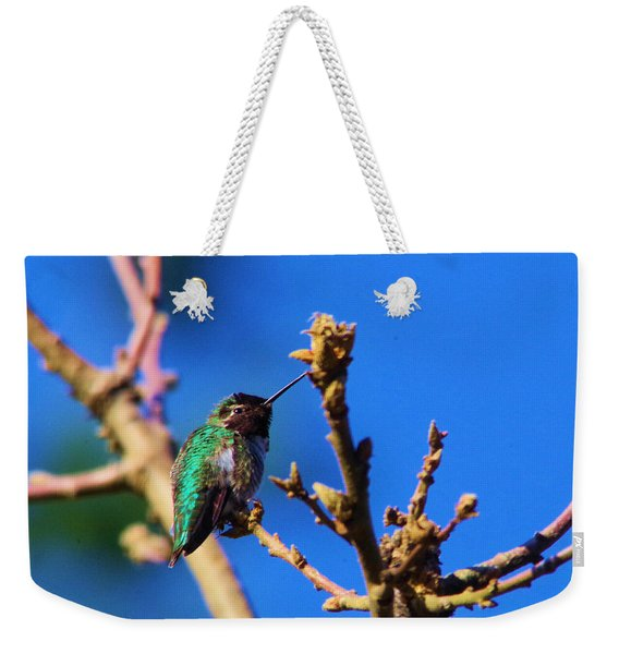 The First Hummingbird Weekender Tote Bag