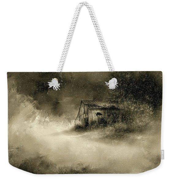 The First Snow Weekender Tote Bag