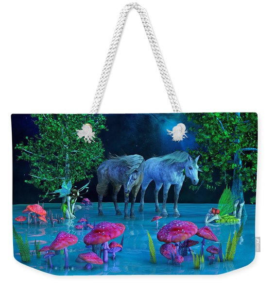 The First Time We Saw Horses Weekender Tote Bag