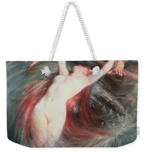 The Fisherman And The Siren Weekender Tote Bag
