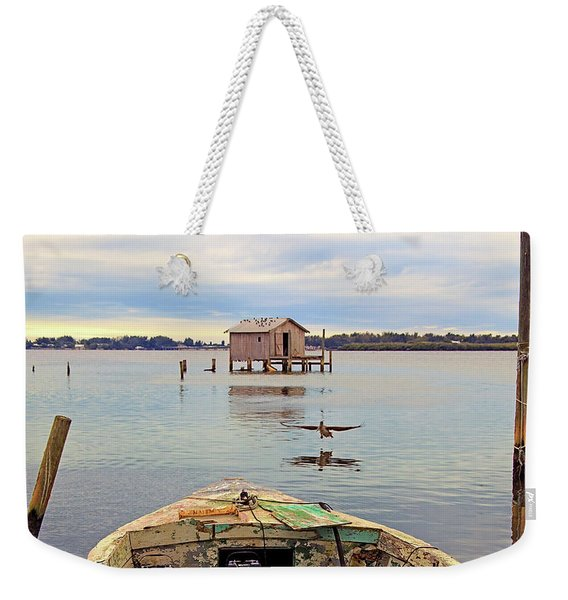 The Fishing Shack Weekender Tote Bag