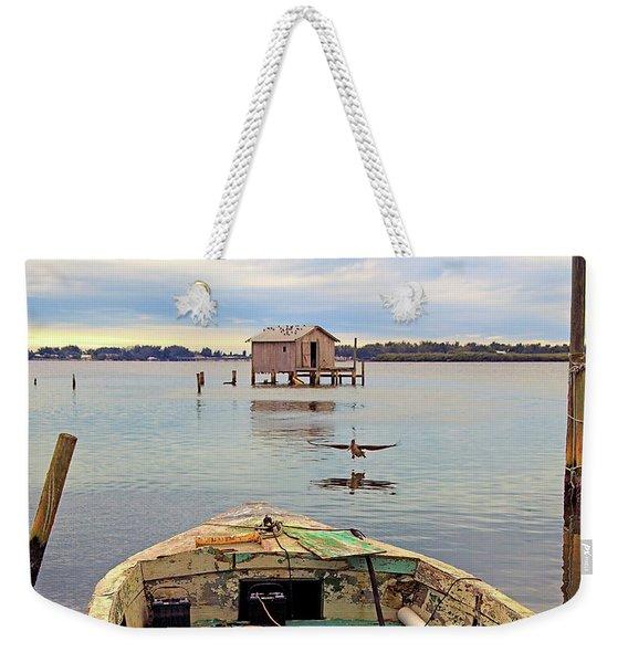 The Fishing Shack Weekender Tote Bag