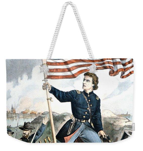 The Flag Again, Waves Over Sumter Weekender Tote Bag