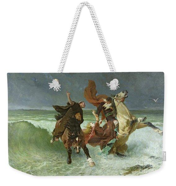 The Flight Of Gradlon Mawr Weekender Tote Bag