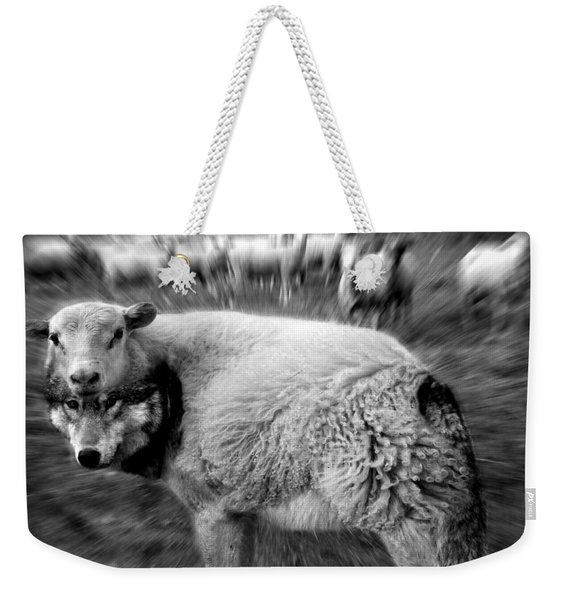 The Flock Is Safe Grayscale Weekender Tote Bag