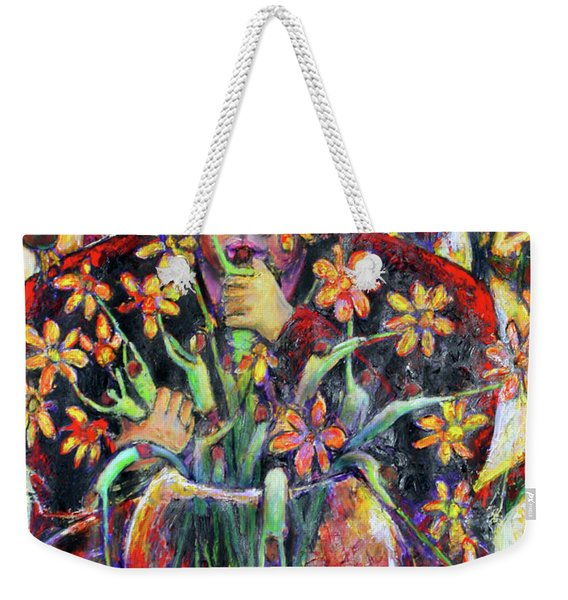 The Flower Arranger Weekender Tote Bag