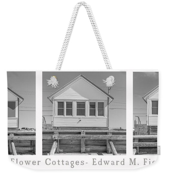 The Flower Cottages Trio Poster Weekender Tote Bag