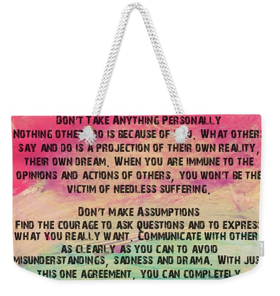 The Four Agreements 11 Weekender Tote Bag