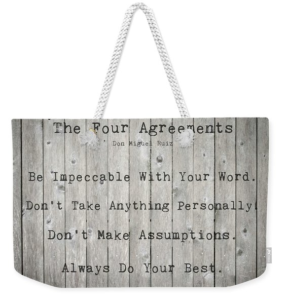 The Four Agreements 12 Weekender Tote Bag