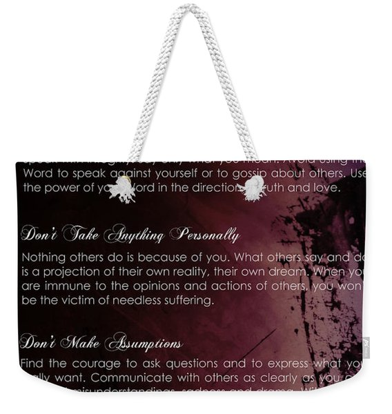 The Four Agreements 3 Weekender Tote Bag