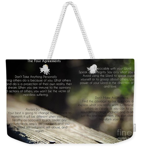 The Four Agreements 4 Weekender Tote Bag