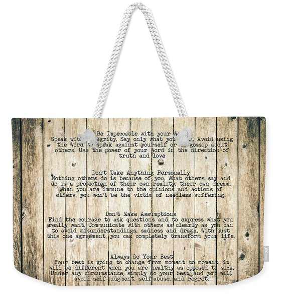 The Four Agreements 8 Weekender Tote Bag