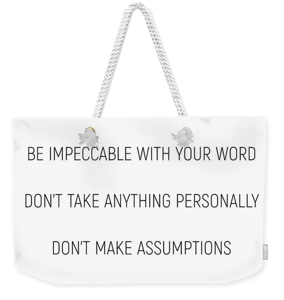 The Four Agreements #minismalism #shortversion Weekender Tote Bag
