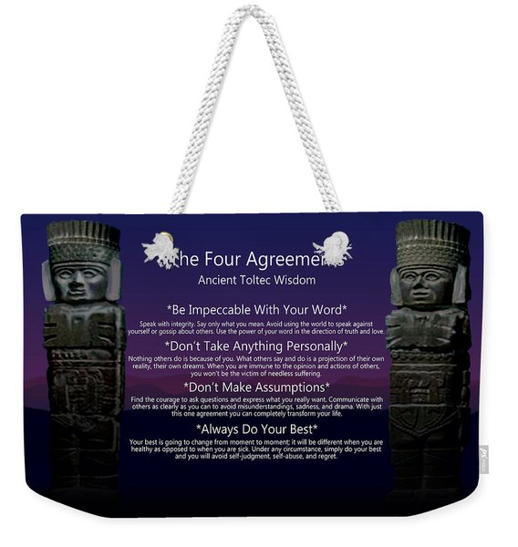 The Four Agreements Poster Weekender Tote Bag
