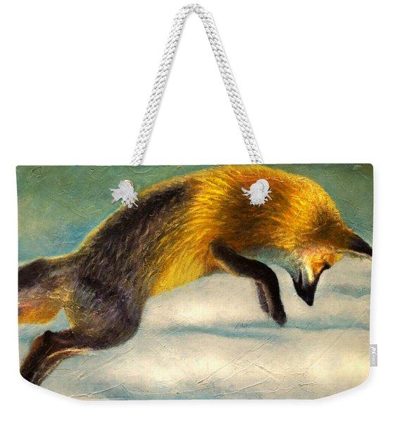 The Fox Hop Weekender Tote Bag
