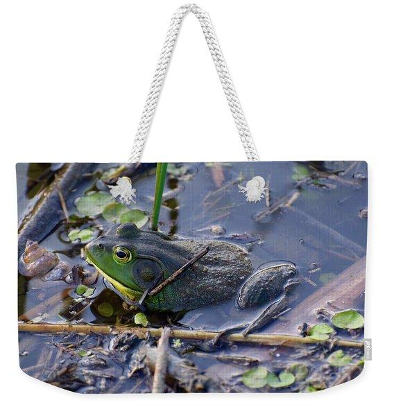 The Frog Remains Weekender Tote Bag
