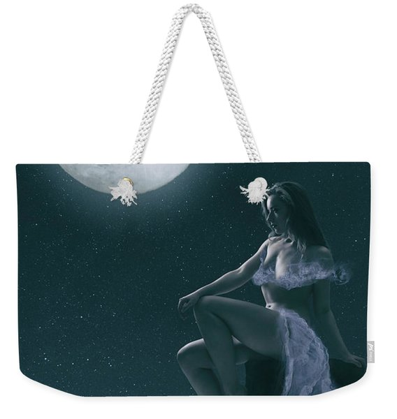 Weekender Tote Bag featuring the photograph The Full Moon by Clayton Bastiani