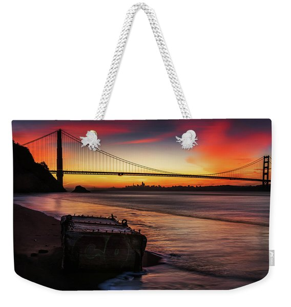 The Gate Of Gold  Weekender Tote Bag