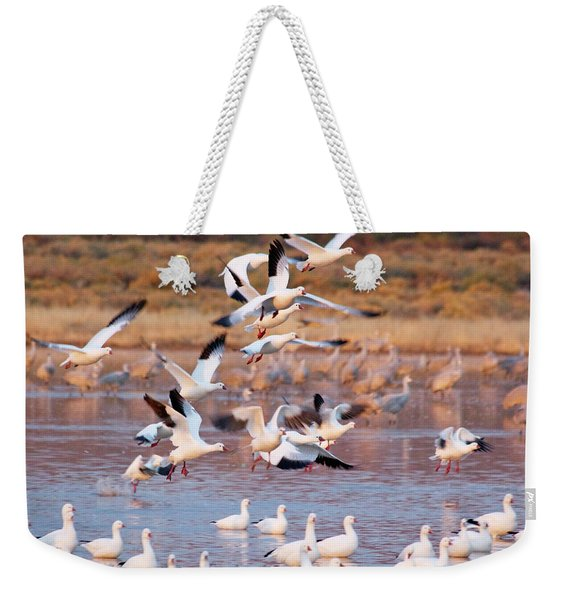 Weekender Tote Bag featuring the pyrography the Gathering by Michael Lucarelli