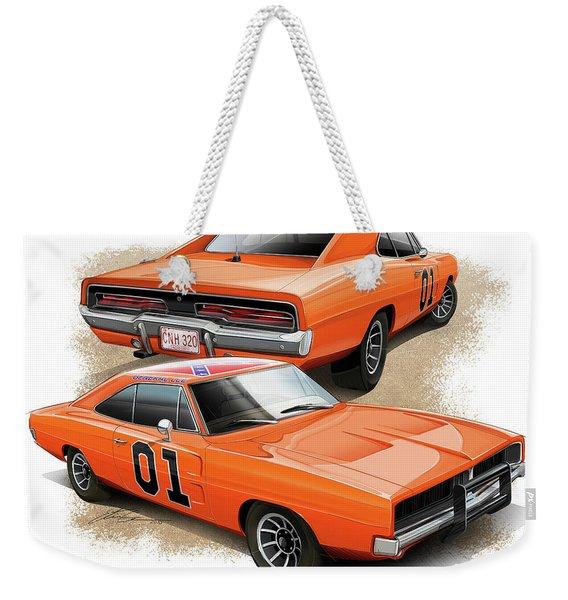 The General Lee Weekender Tote Bag