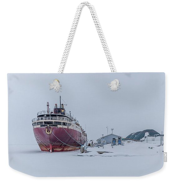 The Ghost Of American Fortitude Weekender Tote Bag