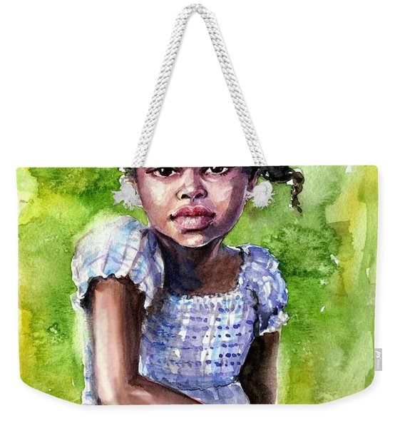 The Girl On The Veranda Weekender Tote Bag