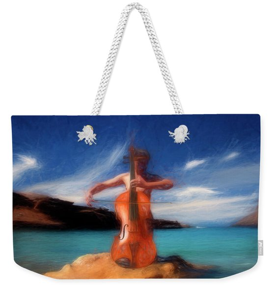 The Girl With A Violoncello Weekender Tote Bag