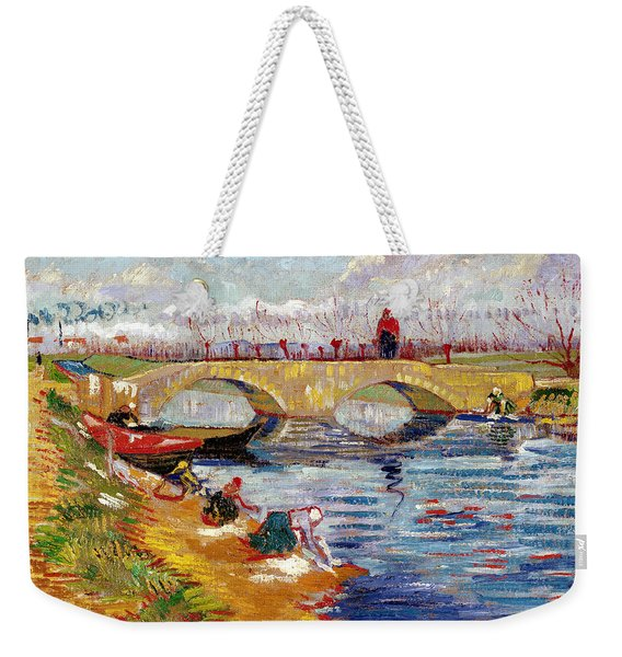 The Gleize Bridge Over The Vigneyret Canal  Weekender Tote Bag