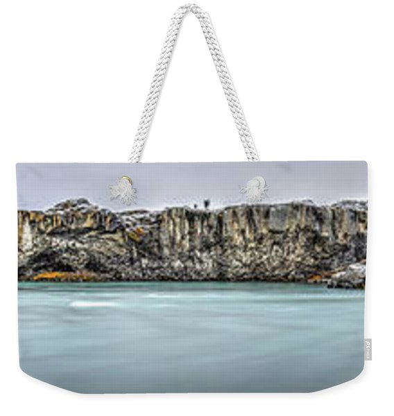 The Godafoss Falls Pano Weekender Tote Bag