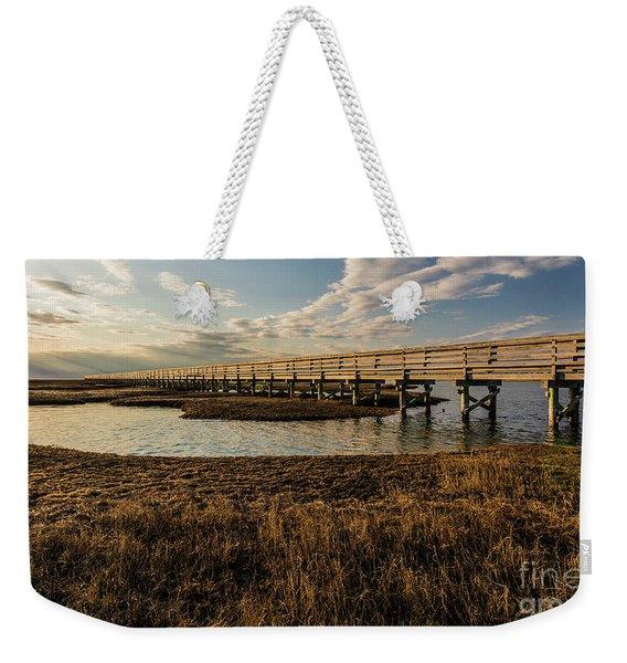 The Golden Boardwalk Weekender Tote Bag