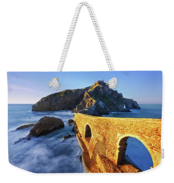 The Golden Bridge Weekender Tote Bag