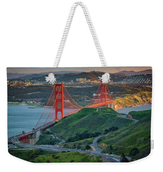 The Golden Gate At Sunset Weekender Tote Bag