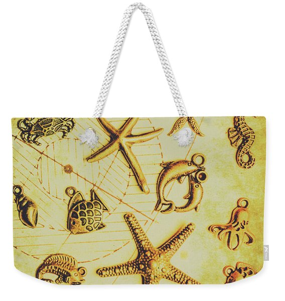 The Golden Sea Parchment Weekender Tote Bag