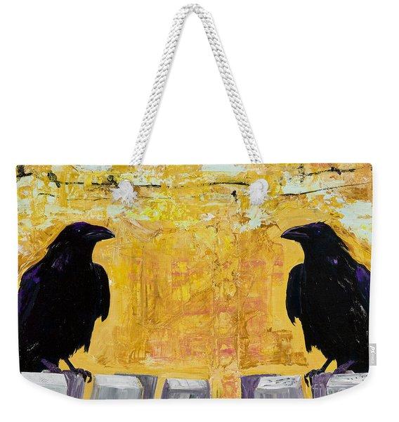 The Gossips Weekender Tote Bag